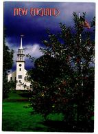 United States Modern Postcard New England - White Church And Apple Trees - United States
