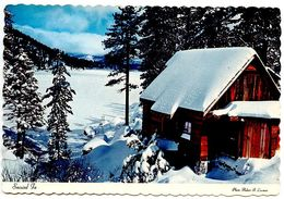United States Modern Postcard Snowed In - Snow Covered Mountains, Lake And Lodge - United States