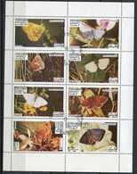(lot 44) Oman Ob  Série De 8 Tbres En Petite Feuille -  Papillons - - Oman