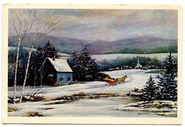 United States Modern Postcard Snowy Rural Scene By John W. Voter Of Bath, Maine - Paintings