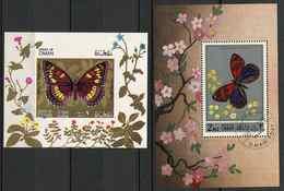 (lot 48) Oman Ob  Lot De 2 Blocs - Papillons - - Oman