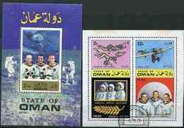 (lot 49) Oman Ob  Lot De 2 Blocs - Cosmonautes - - Oman