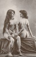 2 NAKED SLAVE MODELS UNUSED POSTCARD FRENCH DUPRET COLLECTION S1 - Pin-Ups