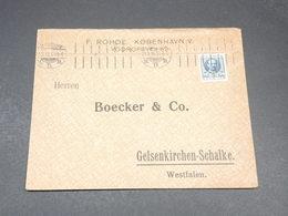 DANEMARK - Enveloppe Commerciale De Vodrofsvej En 1911 - L 19627 - Briefe U. Dokumente