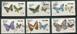 (lot 55) Oman Ob  Lot De 6 Tbres - Papillons - - Oman