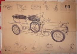 Dessins Techniques Rolls Royce Silver Ghost - Vieux Papiers
