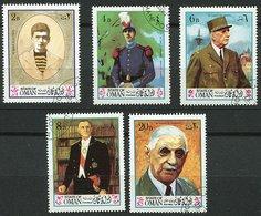 (lot 57) Oman Ob  Lot De 5 Tbres - C. De Gaulle - - Oman