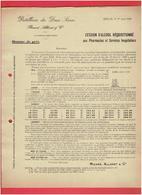 MAI 1918 CESSION D ALCOOL REQUISITIONNE AUX PHARMACIES ET HOPITAUX MELLE DISTILLERIES DES DEUX SEVRES RICARD ALLENET - Documents