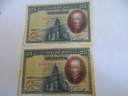 Espagne: Lot 25  Peseta 1928 - [ 1] …-1931 : First Banknotes (Banco De España)