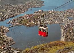"""D08078 """"BERGEN - THE TELECABINE TO MOUNT ULRIKEN""""  CART  SPED 1964 - Norvegia"""
