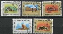 """(lot 60) Oman Ob  Lot De 5 Tbres - """"Expo 70""""  Osaka - - Oman"""
