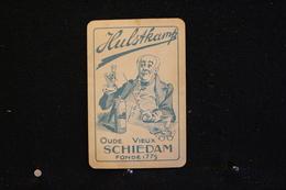 Playing Cards / Carte A Jouer / 1 Dos De Cartes Avec Publicité / Hulstkamp, Oude Vieux Schiedam - Cartes à Jouer