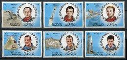 (lot 62) Oman *  Série De 6 Tbres -  Cosmonautes - - Oman