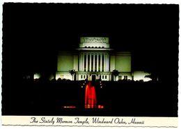 United States Modern Postcard Mormon Temple - Windward Oahu, Hawaii - Oahu