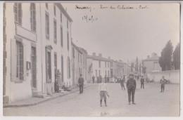 CARTE PHOTO DE ROUSSAY (49) : RUE DU CALVAIRE - LA POSTE - GUILLEMINOT - CLICHE PEU COURANT ?  - ECRITE 1910 - 2 SCANS - - Autres Communes