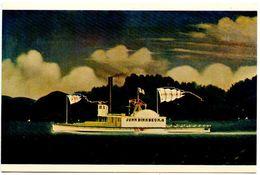 United States Modern Postcard Art Painting - Tugboat John Birkbeck, By James Bard - Paintings