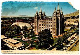 United States 1970 Postcard Mormon Temple Square - Salt Lake City, Utah - Salt Lake City