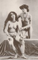 2 NAKED SLAVE MODELS UNUSED POSTCARD FRENCH DUPRET COLLECTION S5 - Pin-Ups