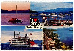 United States C.1983 Postcard Lake George, New York - Adirondack Mountains - Lake George