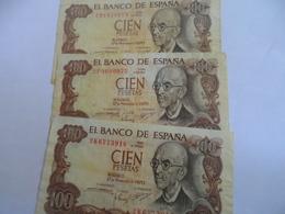 Espagne: Lot 100 Peseta 1970 - 100 Pesetas