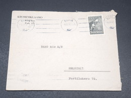FINLANDE - Enveloppe De Kotka Pour Helsinki En 1947 - L 19631 - Cartas