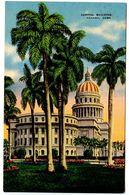 Cuba Vintage Postcard Capitol Building - Havana - Cuba