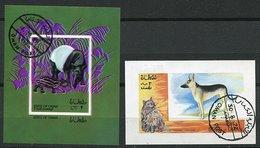 (lot 76) Oman Ob 2 Blocs - Tapir. Chien - - Oman