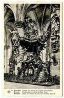 Belgium Vintage Postcard Brussels - Chair Of Verity In The Ste. Gudula Church - Belgium