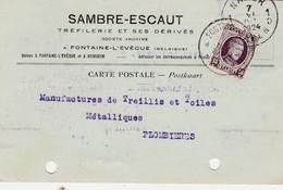 """""""Sambre-Schelde""""  """"Sambre-Escaut"""" Tréfilerie ,Fontaine-l-évêque  Et  Hemixem ,(Houyoux 1924)kaart Pub - Hemiksem"""