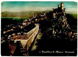 San Marino Vintage RPPC Postcard Panorama Of San Marino - San Marino