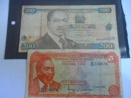 Kenya : Lot De 2 Billets - Kenya