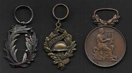 Lot De 3 Médailles - France