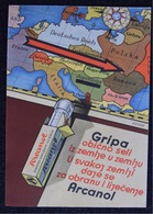 Advertising - Pharmacy, Medicines, European Map, Influenza - Schering - Kahlbaum A.G. Berlin, Year Cca 1920 - Advertising