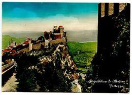 San Marino Vintage RPPC Postcard Fortress - San Marino