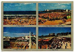 Argentina 1954 Postcard Mar Del Plata - Beaches - Argentina