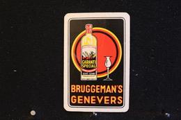Playing Cards / Carte A Jouer / 1 Dos De Cartes Avec Publicité / Stokerij  Bruggeman's Genevers - Gent-Gand - Cartes à Jouer