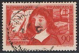 FRANCE : N° 341 Oblitéré (René Descartes) - PRIX FIXE :  1/3 De La Cote - - France