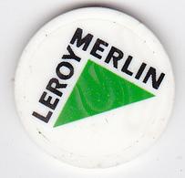 Jeton De Caddie En Plastique - Leroy-Merlin - Grande Surface De Bricolage - Trolley Token/Shopping Trolley Chip