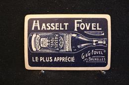 Playing Cards / Carte A Jouer / 1 Dos De Cartes Avec Publicité / Hasselt Fovel, Spiritueux G & G .Fovel Bruxelles - Cartes à Jouer