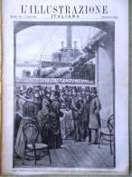 L'Illustrazione Italiana Del 7 Febbraio 1886 Zanzibar Garibaldi Francesco Hayez - Voor 1900