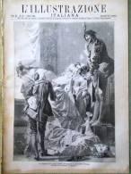 L'Illustrazione Italiana Del 7 Marzo 1886 Vittorio Imbriani Zanzibar Dragonetti - Voor 1900