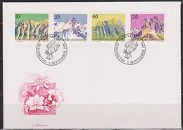 Lichtenstein FDC  1990  MiNr.1000 - 1003 Berge ( D 6175 )  Günstige Versandkosten - FDC
