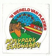 Sticker - 'N WERELD VAN PLEZIER - PONYPARK - SLAGHAREN - Autocollants