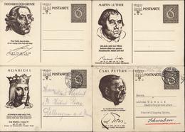 III Reich 4 Entiers Martin Luther Friedrich Grosse Carl Peters Heinrich 1er - Postwaardestukken