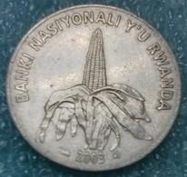 Rwanda 50 Francs, 2003 ↓price↓ - Rwanda