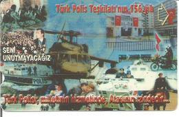 Télécarte De TURQUIE - Police Turque - Hélicoptère 2001 - Polizia