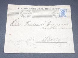 FINLANDE - Enveloppe Commerciale De Helsinki En 1908 , Administration Russe - L 19644 - Storia Postale