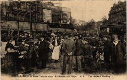 CPA PARIS 17e La Place De Clichy Le Matin. Le Marché Aux Fleurs (479303) - District 17