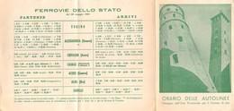 """08091 """"ASTI - ORARIO DELLE FERROVIE 1951"""" ENTE PROV. TURISMO - ORIGINALE - Europa"""