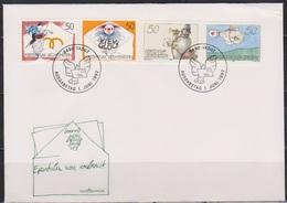 Lichtenstein FDC 1992  MiNr.1041 - 1044 Grußmarken ( D 6178 )  Günstige Versandkosten - FDC